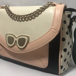 ALDO Pink Polka Dots Sunglasses Crossbody Bag